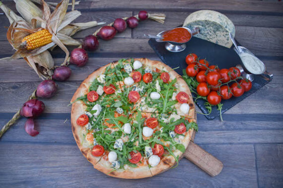 pizza gorgonzola-con-rucola